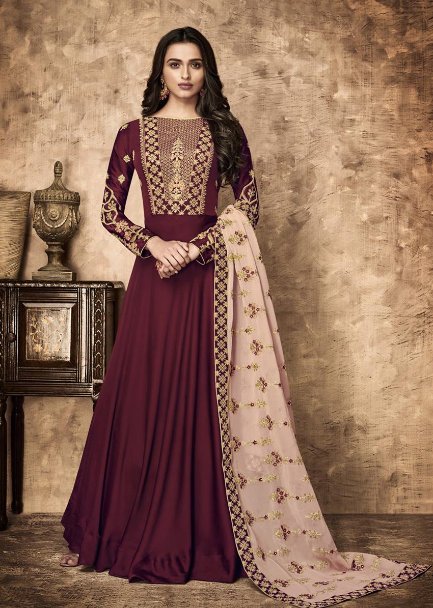 Designer Anarkali Style Salwar Kameez