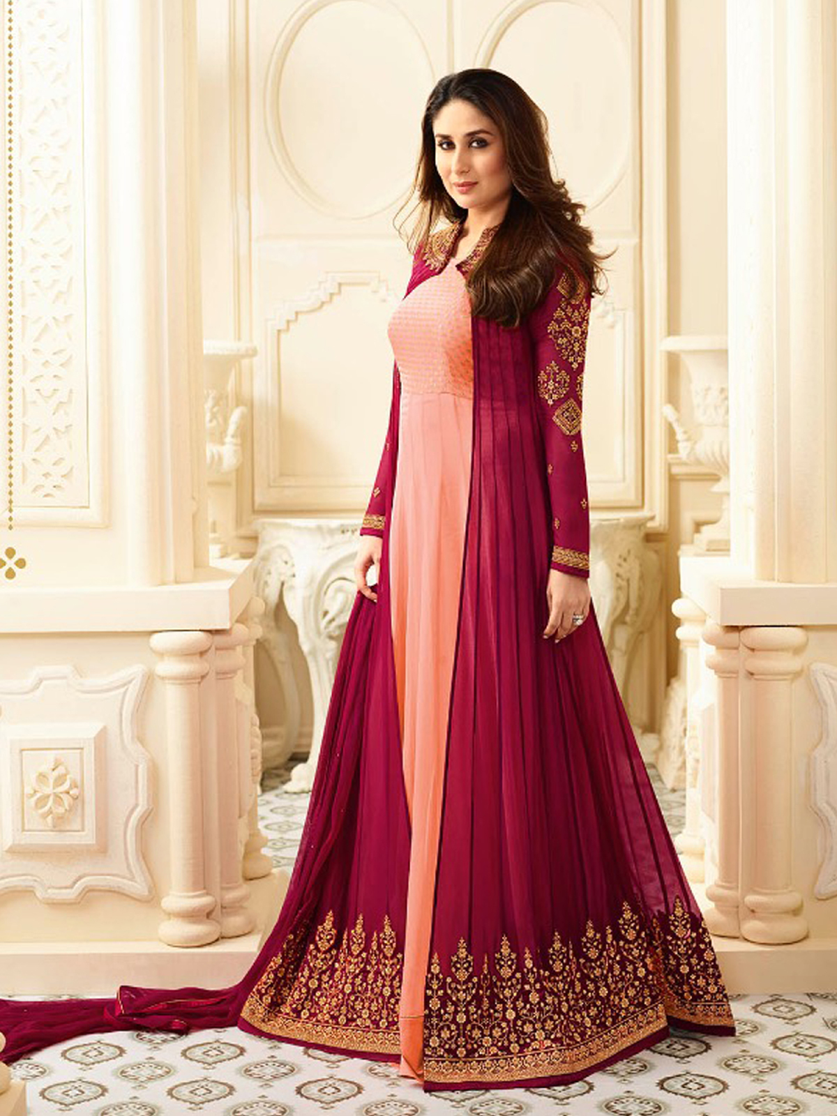 Kareena Kapoor Khan Designer Faux Georgette Latest Anarkali Salwar Suit