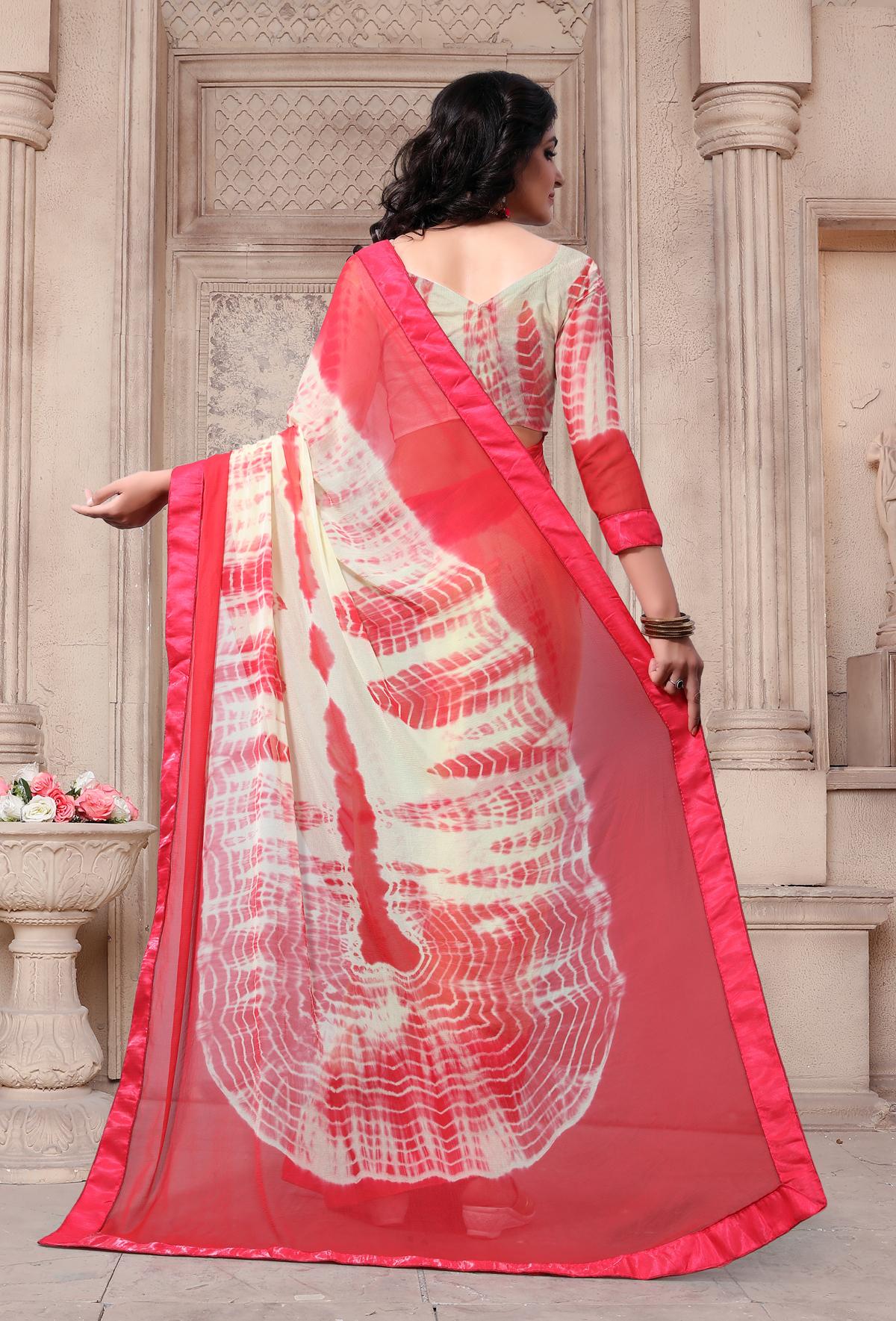 Designer Multi Georgette Printed saree