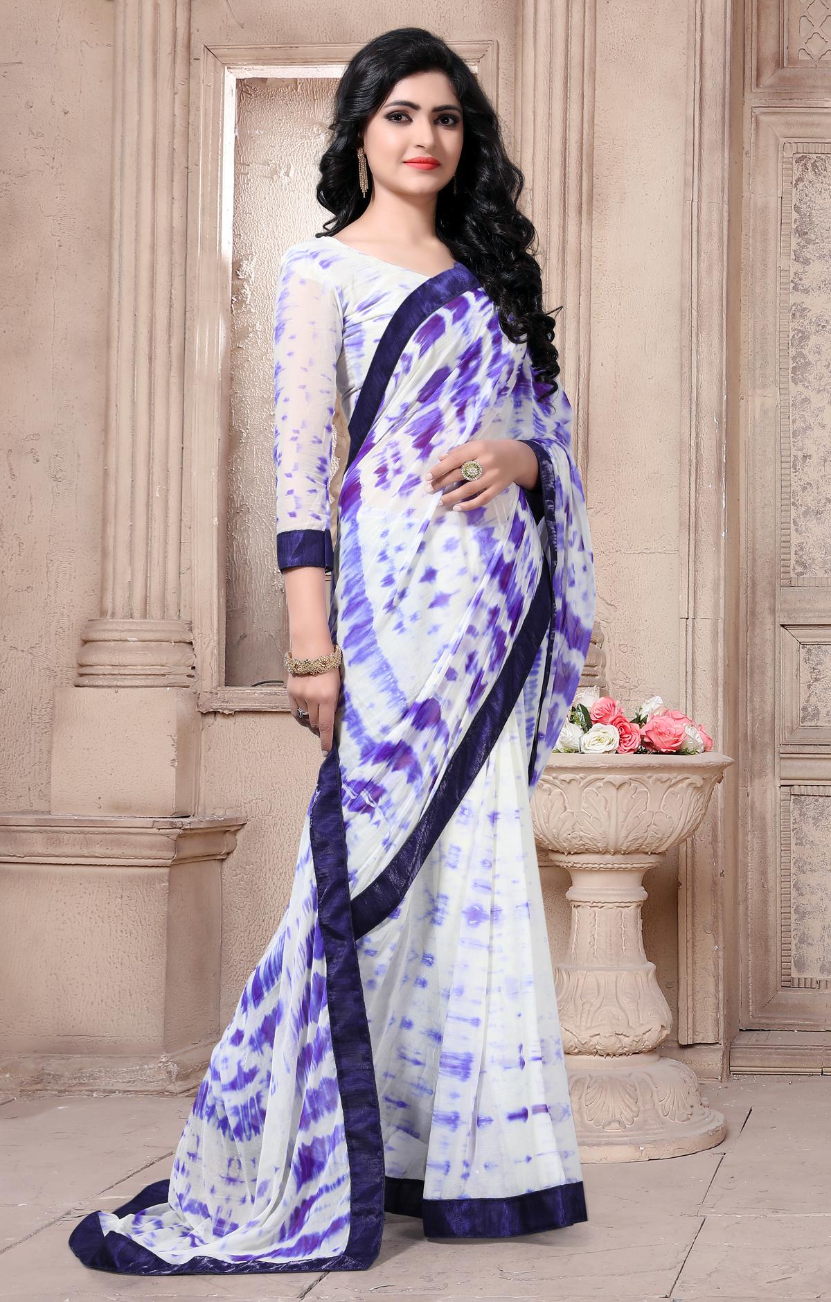 Designer multicolor Georgette Printed saree