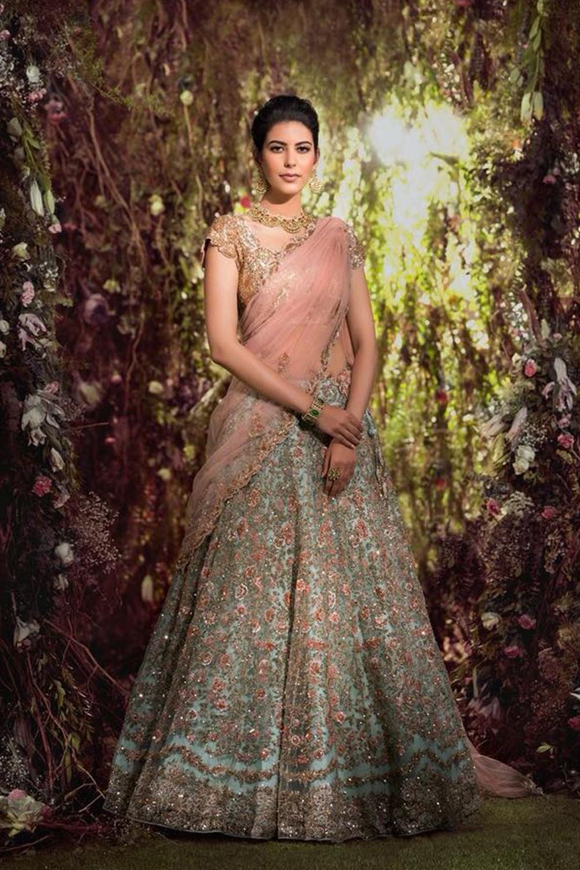 Designer Breezy Blue Color,Nura Silk Wedding,Party,Reception Embroidery Lehenga 2018