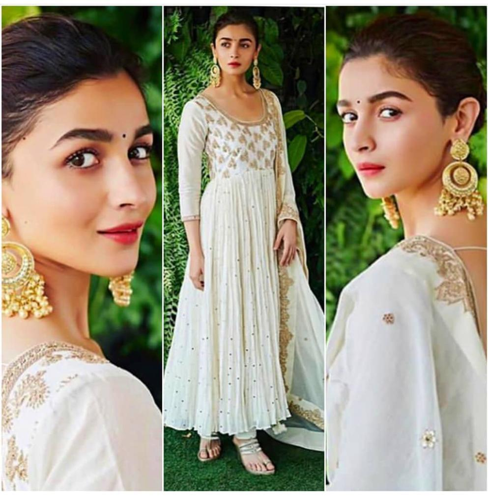 Alia Bhatt  Summer Special Georgette  With Coding  Work Suit