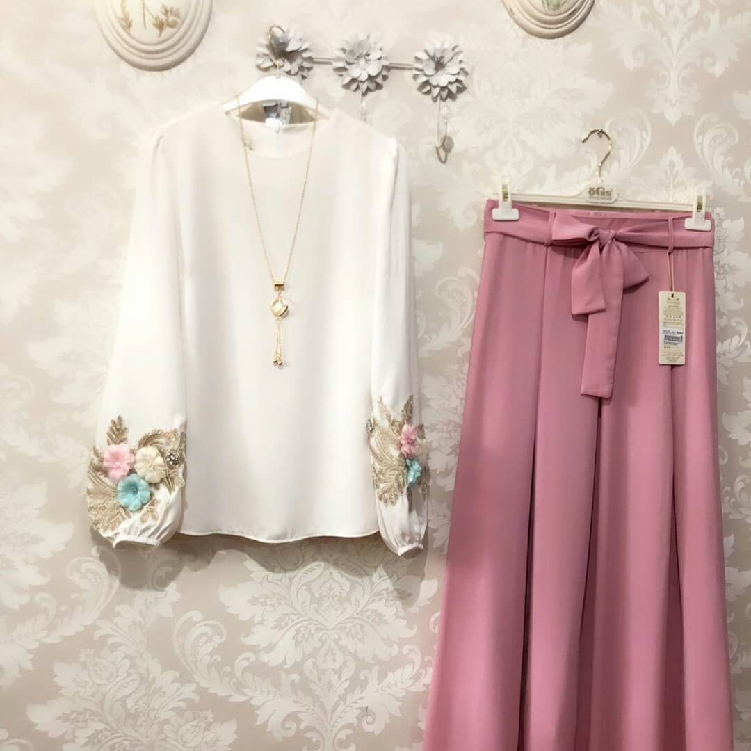 Lovely White Color  Zam Cotton Top With Peach Color Plazzo
