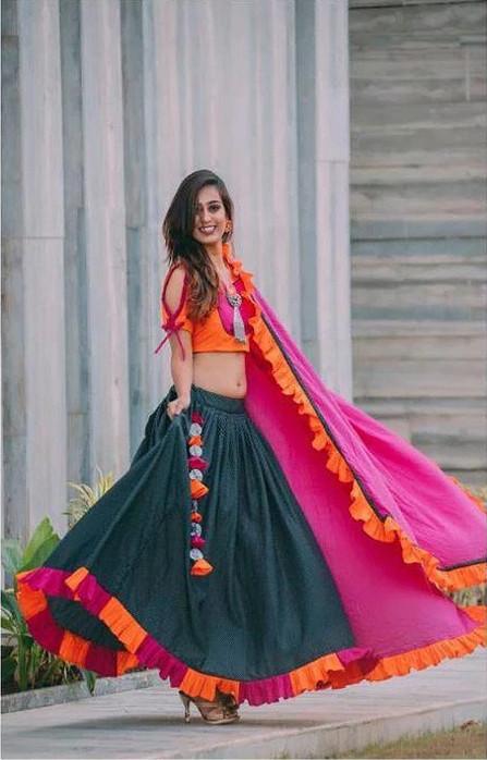 Wonderful Fanta&Rani Cotton  Beautiful Chaniya  Choli For Women