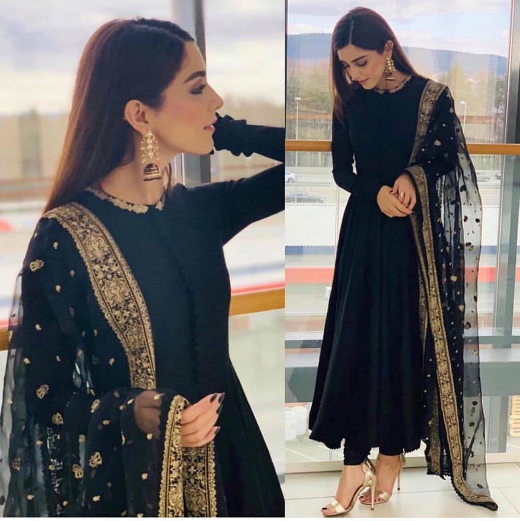 Designer Georgette Net With Embroidery Work Anarkali Suit