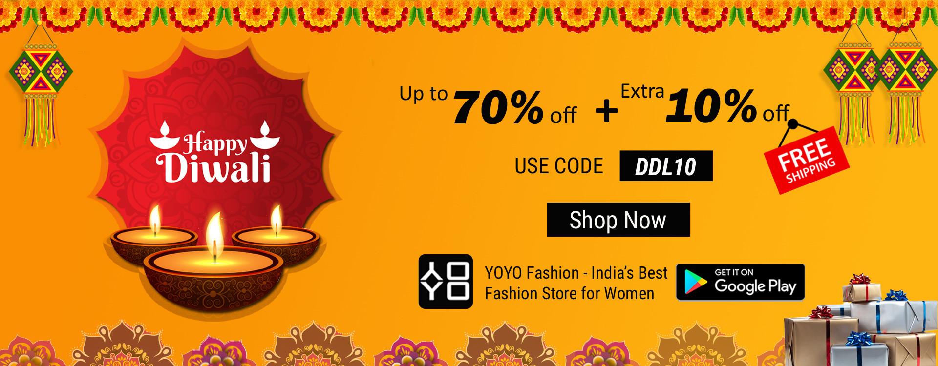 Diwali Offers- Diwali Dresses Sarees Collection Online - YOYO Fashion