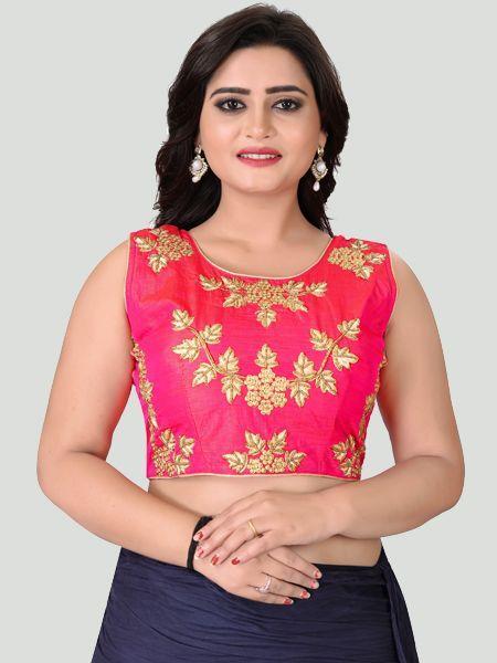 Buy Round Neck Women's Stitched Blouse Online in India- YOYO Fashion