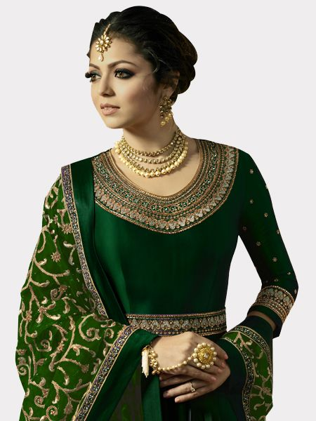 Designer Green Anarkali Salwar Suit