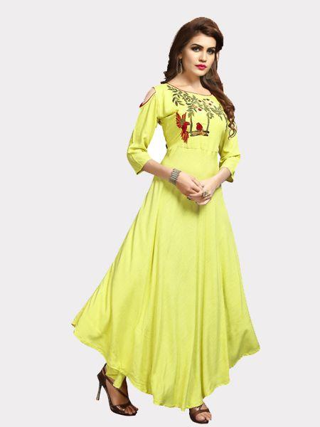 Buy Designer Super Rayon Kurti Online in India- YOYO Fashion