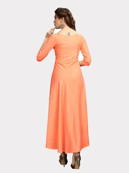 Designer Light Orange Kurti