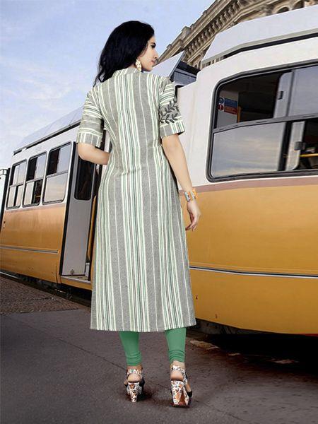 Designer Multicolor Handloom Cotton Kurti