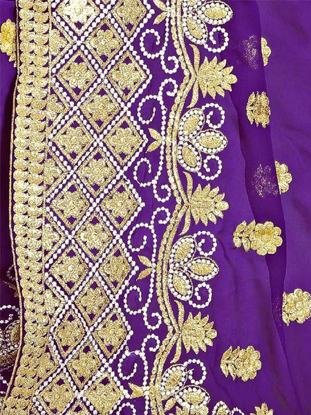 Designer Purple Georgette Saree
