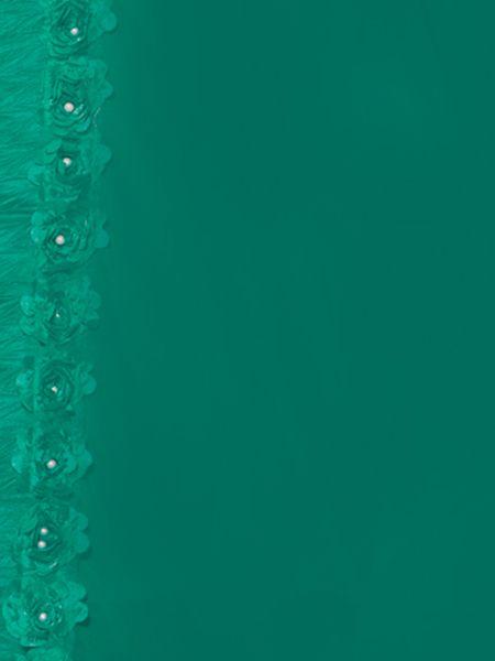 Fancy Sea Green Georgette Saree