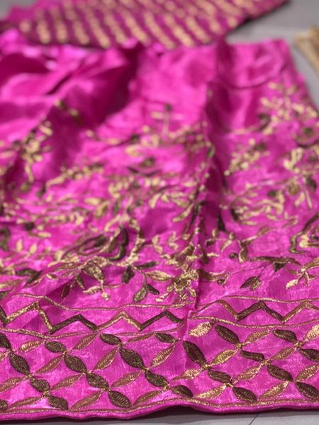 Traditional Pink Embroidered lehenga