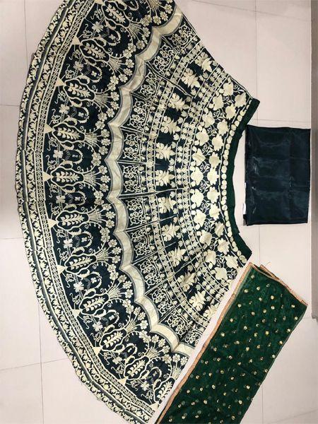 Designer Green Printed Lehenga