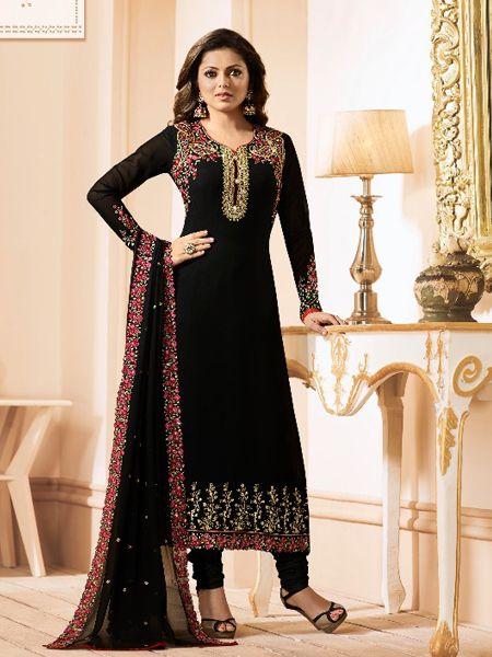 Designer Georgette Black Salwar Kameez
