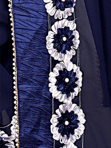Designer Georgette Saree in Navy Blue