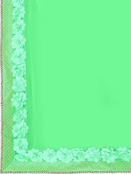 Designer Sea Green Georegette Saree