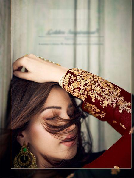 Designer Red Pakistani  Suit