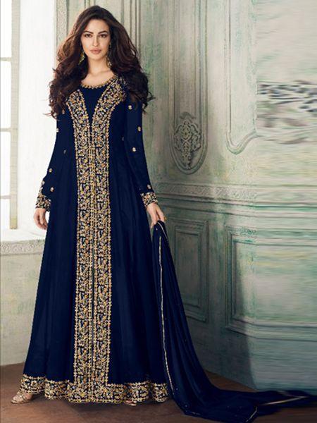 Designer Blue Pakistani Suit
