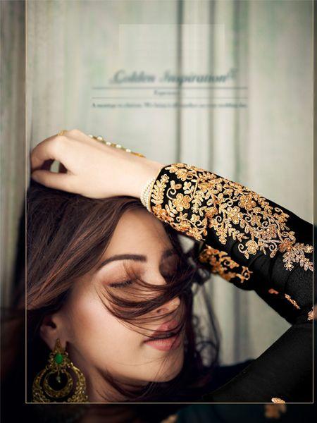 Designer Black Pakistani Suit