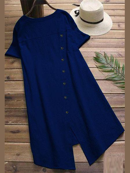 Stylish Plain Blue Kurti