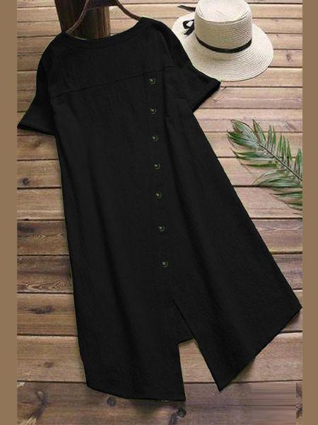 Stylish Plain Black Kurti