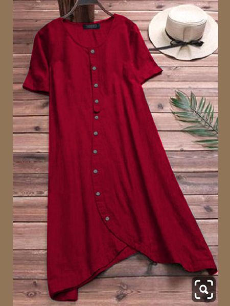 Designer Plain Red Kurti