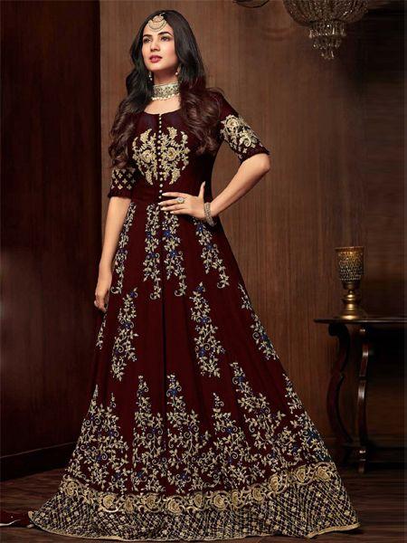 Designer Red Pakistani Dress