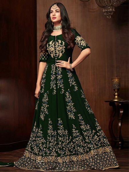 Designer Green Pakistani Dress