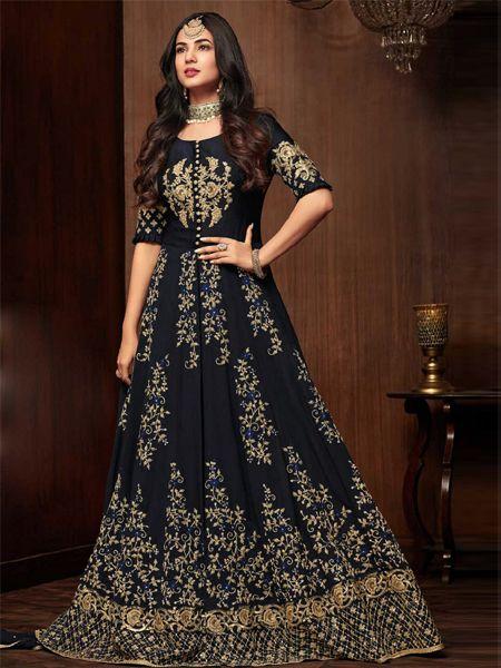 Designer Black Pakistani Dress