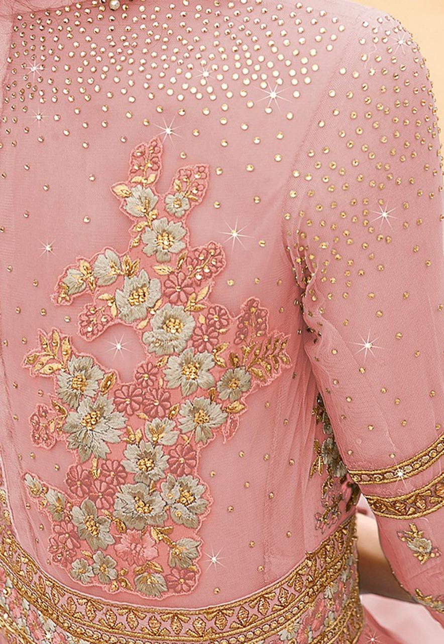 Designer Baby Pink Anarkali Dress