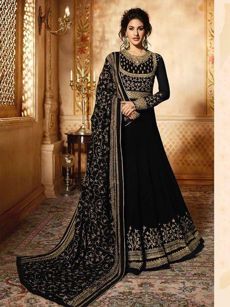 Buy Black Long Anarkali Gown Online- YOYO Fashion