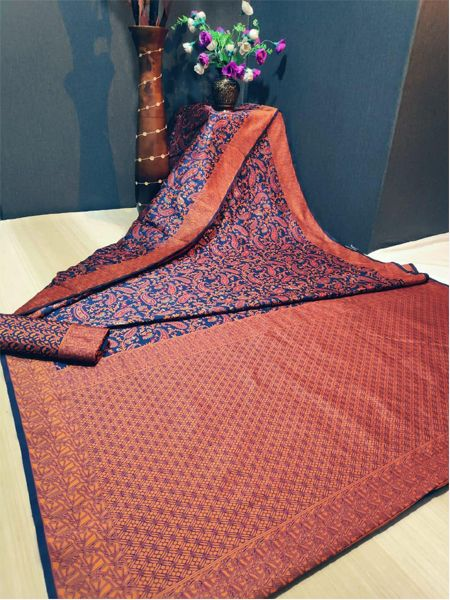 Latest Brick Red Soft Silk Saree