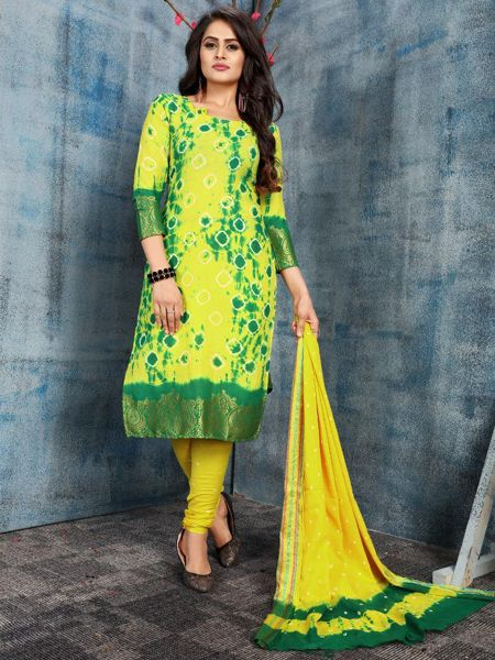 Yellow Cotton Salwar Suit