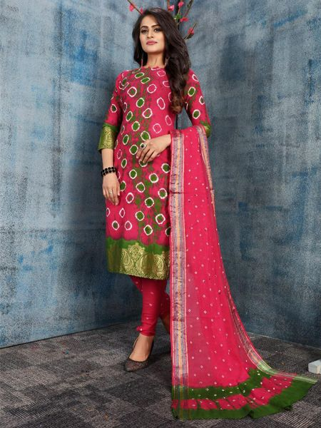 Pink Cotton Salwar Suit