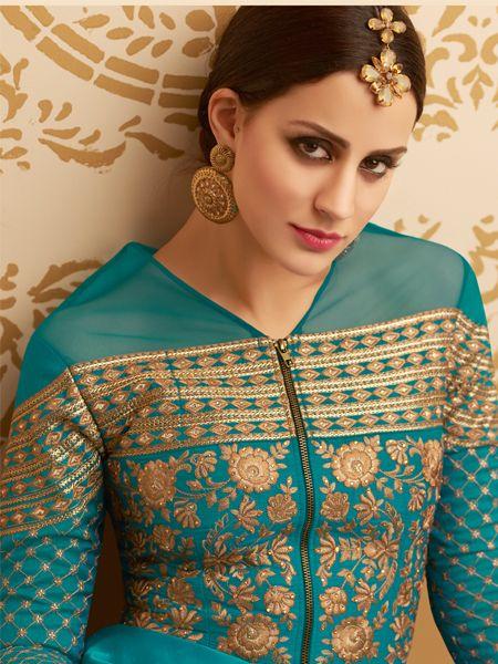 Latest Turquoise Anarkali Dress