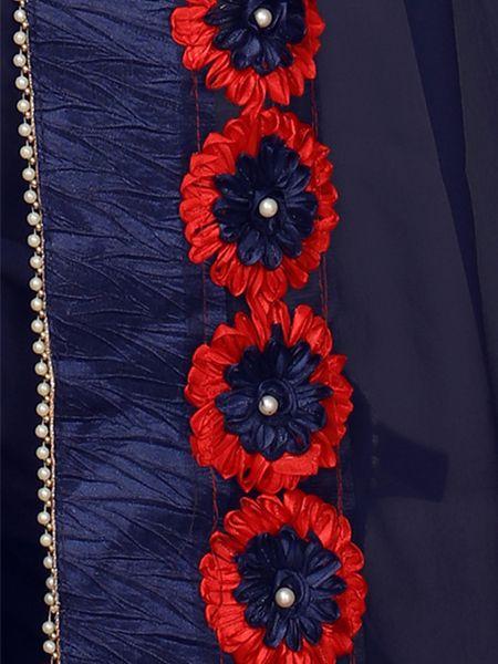 Designer Blue Georgette Saree