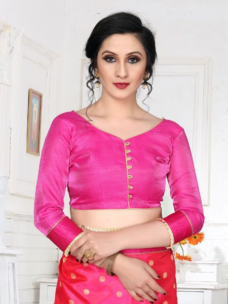 Latest Pink Embroidered Saree