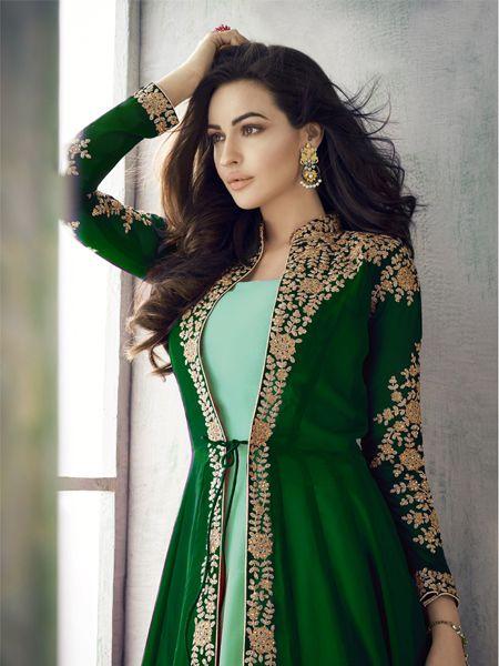 Designer Green Anarkali Suit