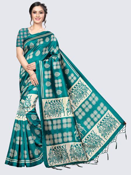 Designer Rama Art Silk Saree