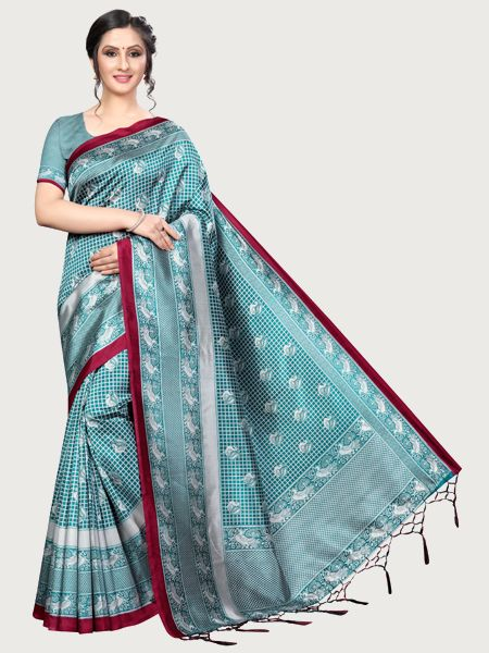 Designer Rama Art Silk Saree