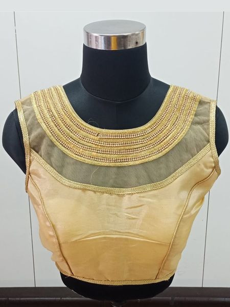 Buy Readymade Golden Saree Blouse Online in India- YOYO Fashion