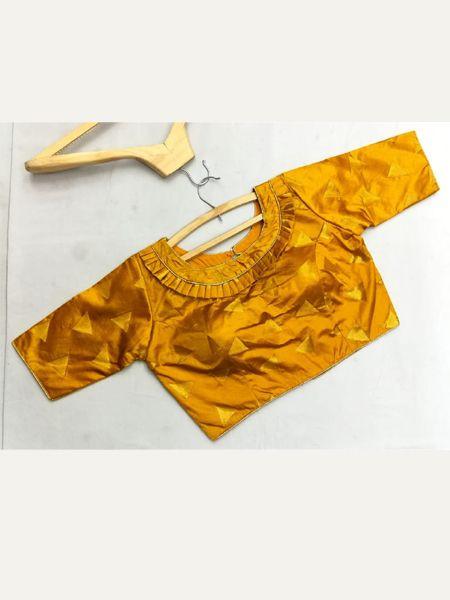 Buy Designer Yellow Silk Blouse Online in India- YOYO Fashion