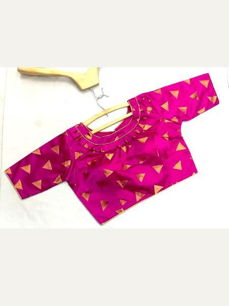 Designer Pink Silk Blouse
