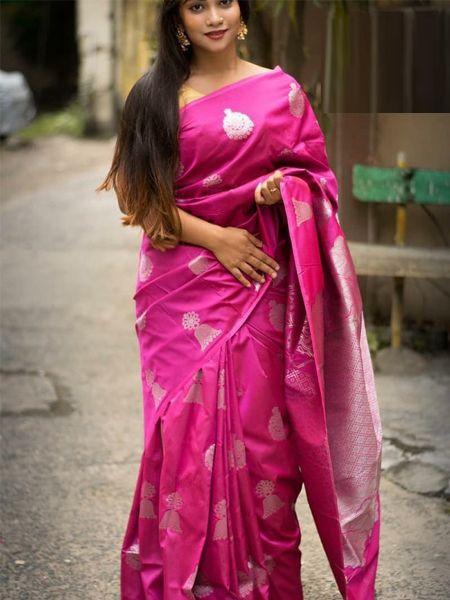 Latest Pink Soft Silk Saree