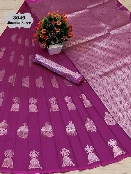 Latest Purple Soft Silk Saree