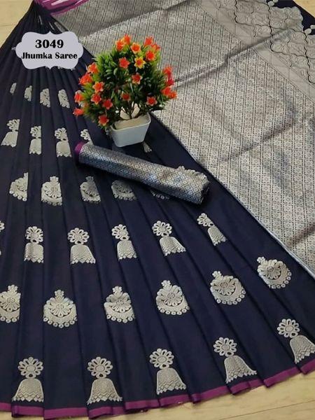 Latest Blue Soft Silk Saree