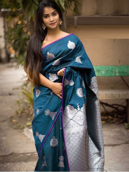 Latest Firoji Soft Silk Saree