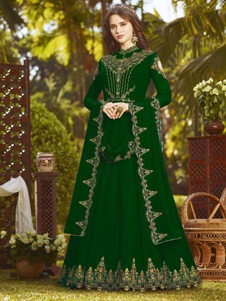 Buy Latest Green Anarkali Suit Online in India- YOYO Fashion